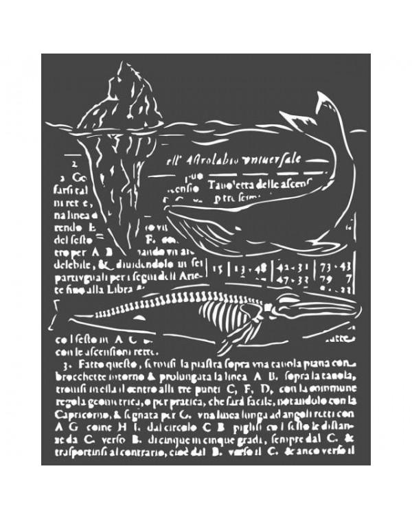 Stencil Stamperia 20x25cm y 0.5mm de espesor Friso con inscripciónes