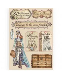 Woodes Shape de Colores A5 - Lady Vagabond etiquetas