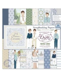 Colección papel comunión niño doble cara 10 hojas 20 x 20 cm Dayka SCP1036