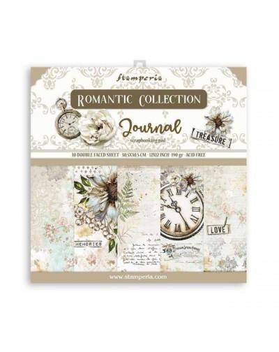 "Colección Romantic Journal (12""x12"") Stamperia"