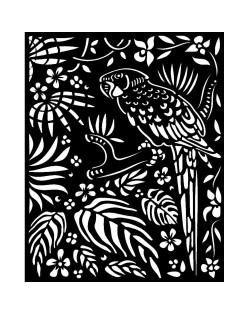 Stencil grueso 20x25 cm - Amazonia loro