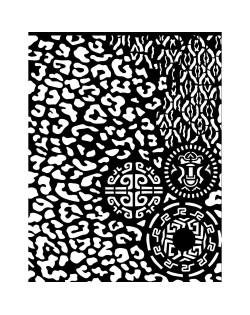 Stencil grueso 20x25 cm - Amazonia tribales