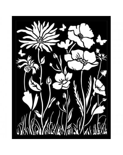 Stencil grueso 20x25 cm - Atelier amapola y flor