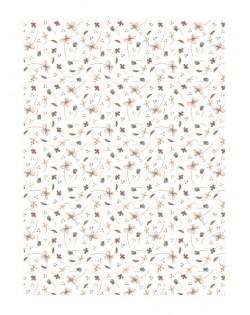 Textura para encuadernar Alas de Hada Flores y hojas