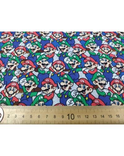 Tela Nintendo Mario y Luigi  (25x110CM)