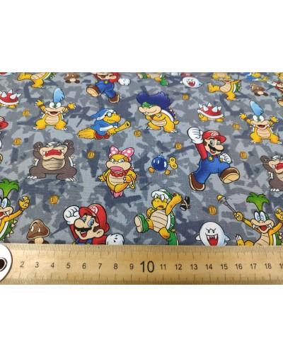 Tela Nintendo Mario y Bowser  (25x110CM)