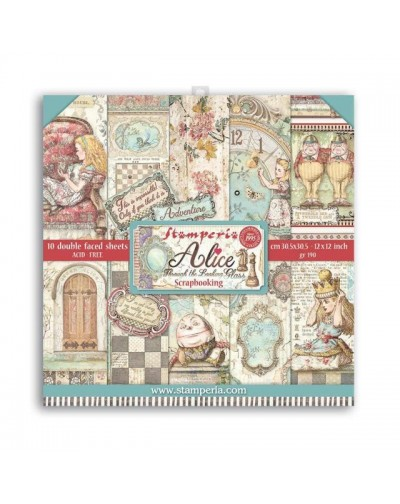 """Colección Alice through the looking glass (12""""x12"""") Stamperia"""