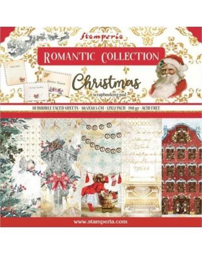 "Colección Romantic Christmas  (12""x12"") Stamperia"