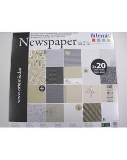 Bloc 40 hojas scrap news paper