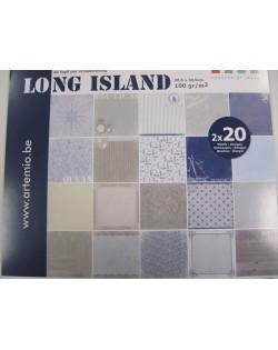 Bloc 40 hojas scrap long island