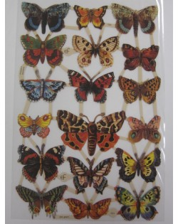 cromos antiguos mariposas