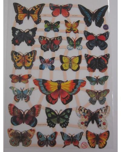 cromos con motivos de  mariposas
