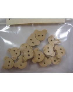 Botones osos madera