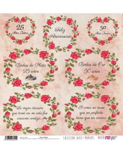 Papel doble cara boda PFY024
