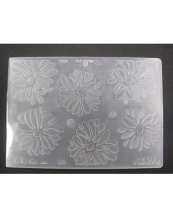 Carpeta embosing flores