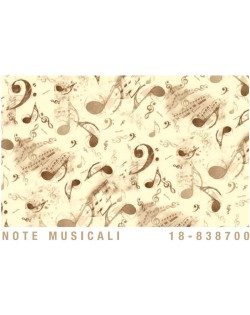 Papel Cartonaje Notas musicales