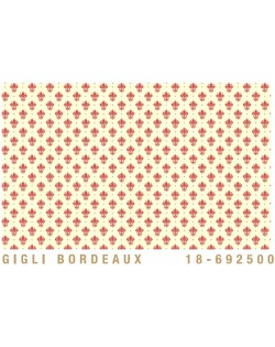 Papel Cartonaje Flor de lis burdeos