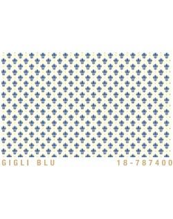 Papel Cartonaje Flor de lis azul