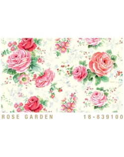 Papel Cartonaje jardin de rosas