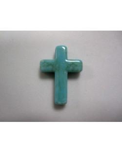 5 cruces acrilicas de resina imitación turquesa