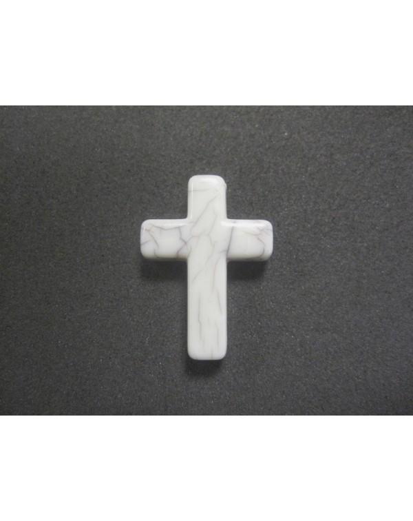 5 cruces acrilicas de resina imitación marmol blanco