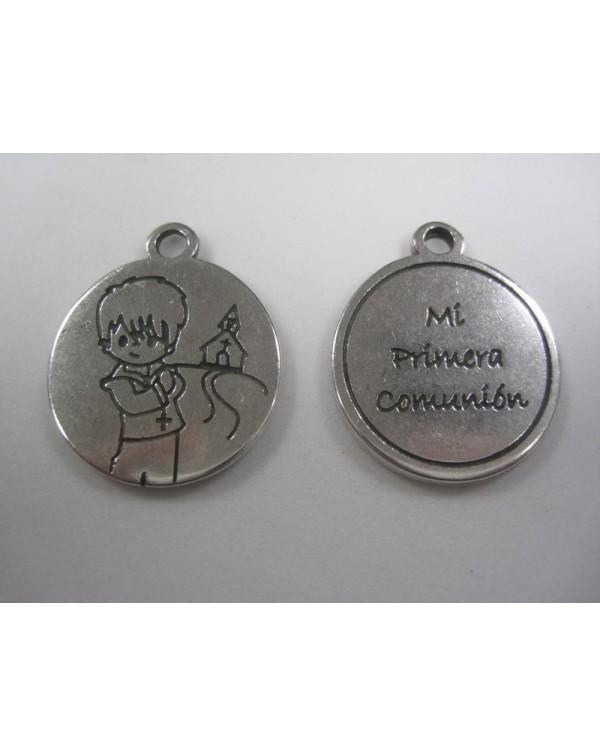 6 medallitas comunión niño