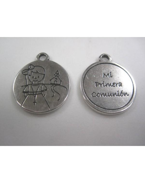 6 medallitas comunión niña