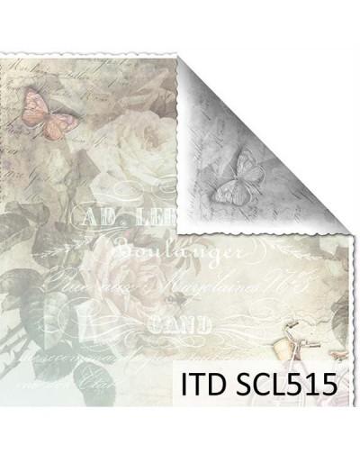 Papel scrap doble cara color y blanco/negro SCL515