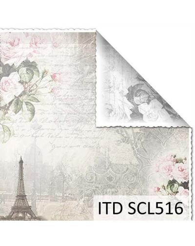 Papel scrap doble cara color y blanco/negro SCL516