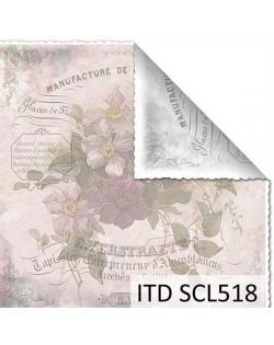 Papel scrap doble cara color y blanco/negro SCL518
