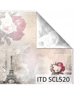 Papel scrap doble cara color y blanco/negro SCL520