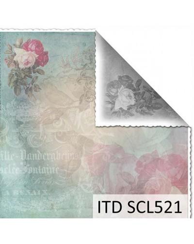 Papel scrap doble cara color y blanco/negro SCL521