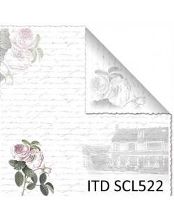 Papel scrap doble cara color y blanco/negro SCL522