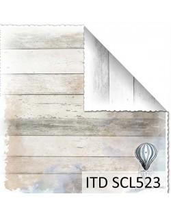 Papel scrap doble cara color y blanco/negro SCL523