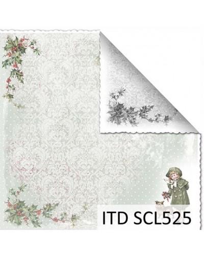 Papel scrap doble cara color y blanco/negro SCL525