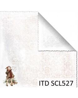 Papel scrap doble cara color y blanco/negro SCL527