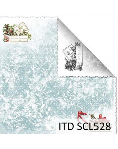 Papel scrap doble cara color y blanco/negro SCL528