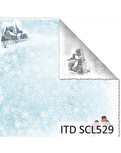 Papel scrap doble cara color y blanco/negro SCL529