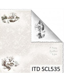 Papel scrap doble cara color y blanco/negro SCL535