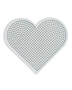 Placa / Pegboard corazón para Hama mini