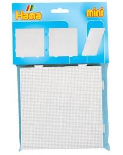 Bolsa de 2 Placa / Pegboard de 15x15 centímetros mini + papel Hama