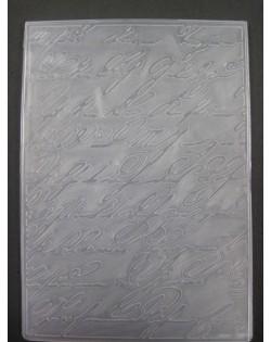 Carpeta embosing letra grande
