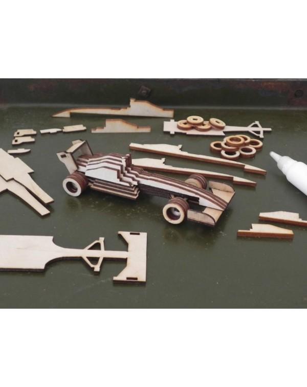 Kit coche carreras madera