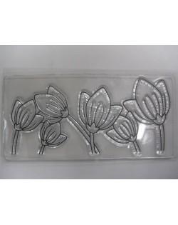 Sello de silicona tulipanes