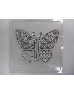Sello de silicona mariposa