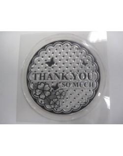 Sello de silicona galleta muchas gracias