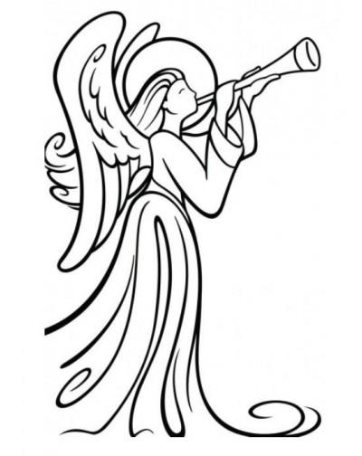 Carpeta embosing angel
