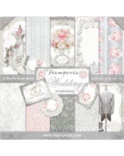 Colección papeles stamperia Wedding