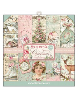 "Colección Sweet Christmas (12""x12"") Stamperia SBBL36"
