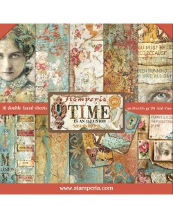 "Colección Time s an Illusion (12""x12"") Stamperia SBBL33"